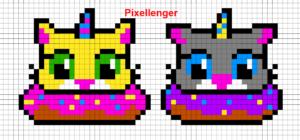Кот в пончике 2 варианта