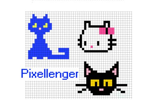 3 Котика - Простые рисунки по клеточкам