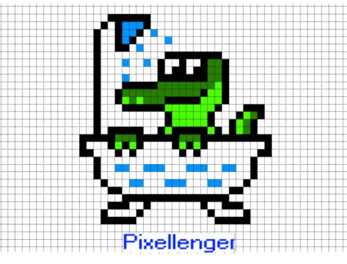 Крокодил Генчик купается в ванной